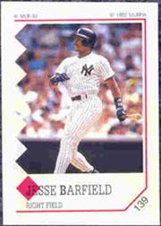 1992 Panini Stickers #139 Jesse Barfield