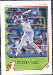 1992 Panini Stickers #145 Julio Franco