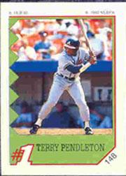 1992 Panini Stickers #148 Terry Pendleton