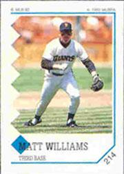 1992 Panini Stickers #214 Matt Williams