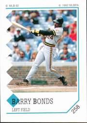 1992 Panini Stickers #258 Barry Bonds