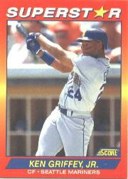 1992 Score 100 Superstars #1 Ken Griffey Jr.