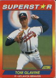 1992 Score 100 Superstars #15 Tom Glavine