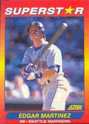 1992 Score 100 Superstars #17 Edgar Martinez