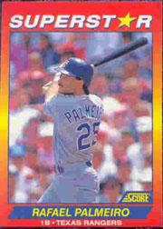 1992 Score 100 Superstars #27 Rafael Palmeiro