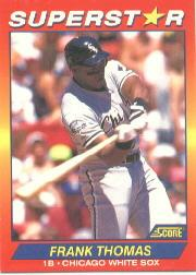 1992 Score 100 Superstars #51 Frank Thomas