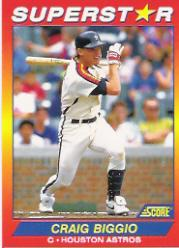 1992 Score 100 Superstars #52 Craig Biggio