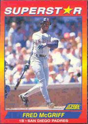 1992 Score 100 Superstars #65 Fred McGriff