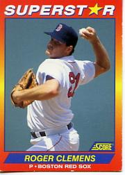 1992 Score 100 Superstars #74 Roger Clemens