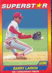 1992 Score 100 Superstars #77 Barry Larkin