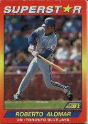 1992 Score 100 Superstars #82 Roberto Alomar