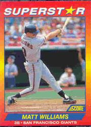 1992 Score 100 Superstars #95 Matt Williams