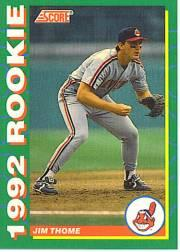 1992 Score Rookies #4 Jim Thome