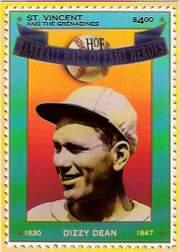 1992 St. Vincent HOF Heroes Stamps #2 Dizzy Dean