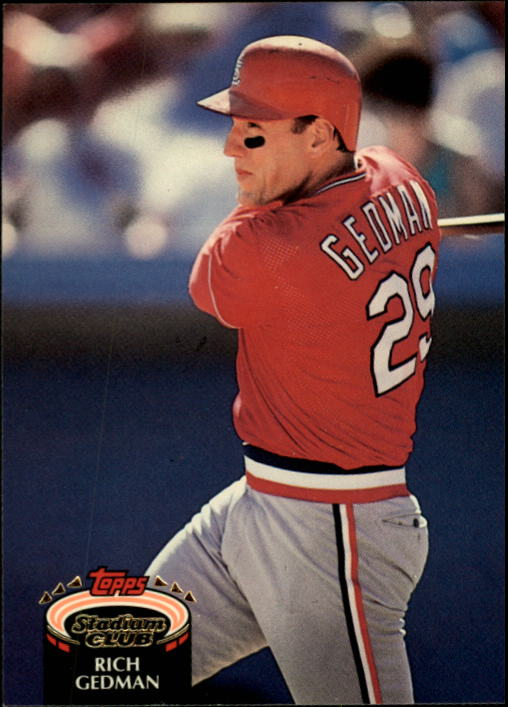 1992 Stadium Club #58 Rich Gedman UER/(Wrong BARS chart used)