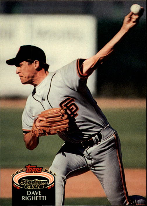 1992 Stadium Club #107 Dave Righetti