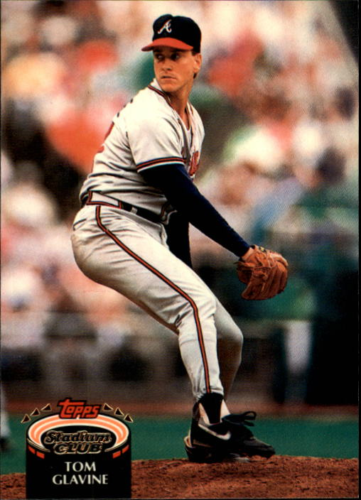 1992 Stadium Club #395 Tom Glavine