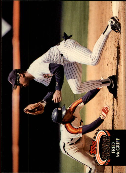 1992 Stadium Club #580 Fred McGriff