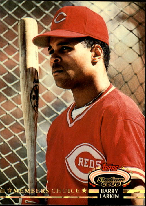 1992 Stadium Club #596 Barry Larkin MC UER