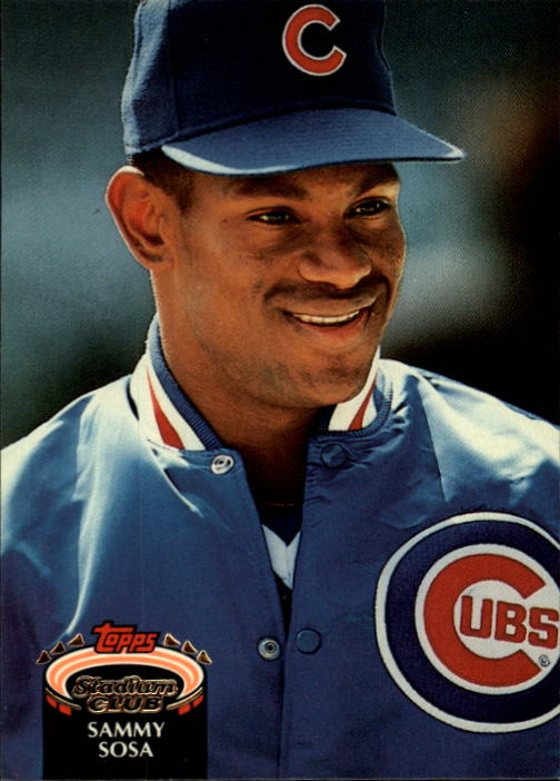1992 Stadium Club #628 Sammy Sosa