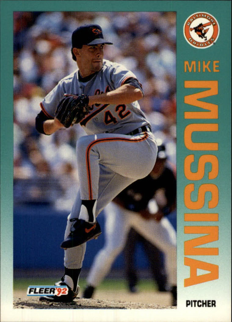 1992 Fleer #20 Mike Mussina UER/Card back refers/to him as Jeff
