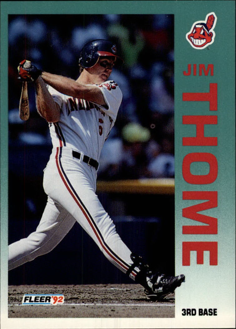 1992 Fleer #125 Jim Thome front image