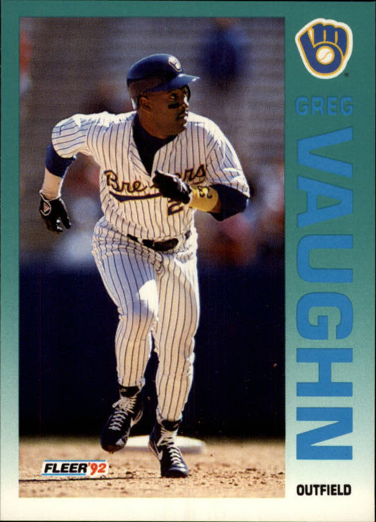 1992 Fleer #192 Greg Vaughn front image