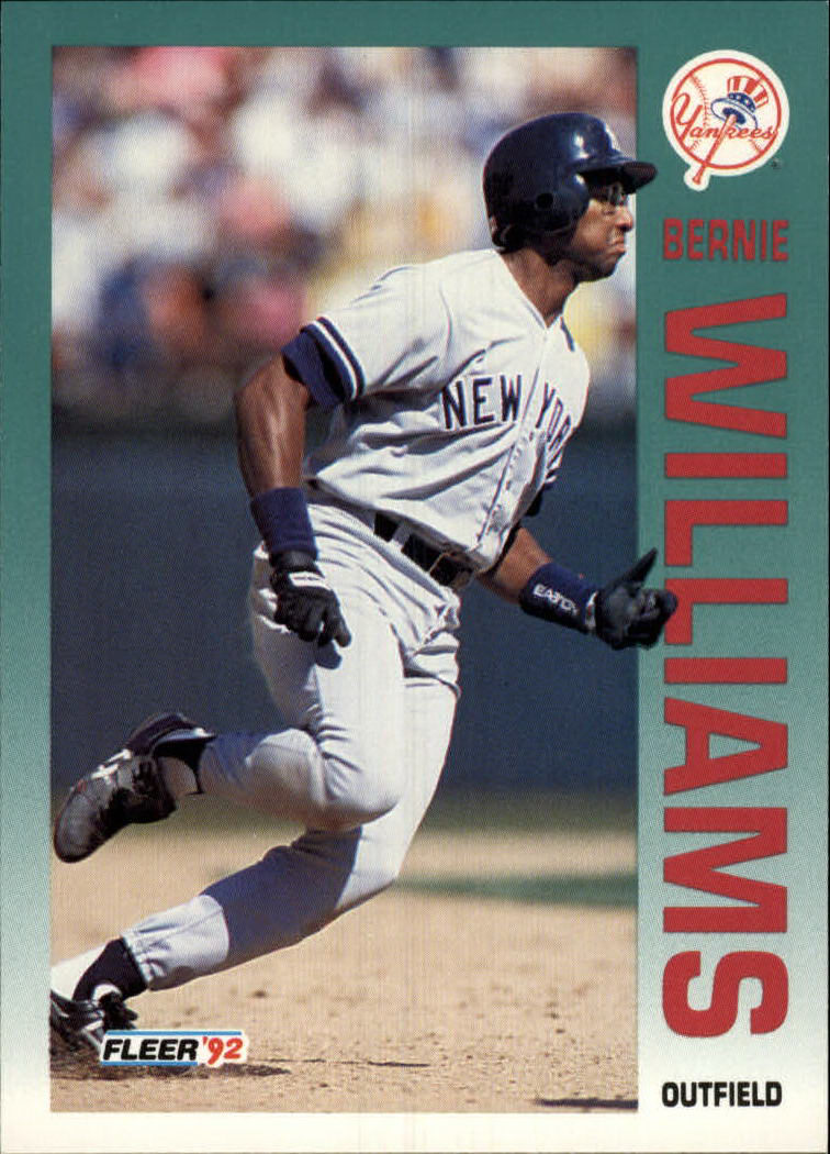 1992 Fleer #247 Bernie Williams
