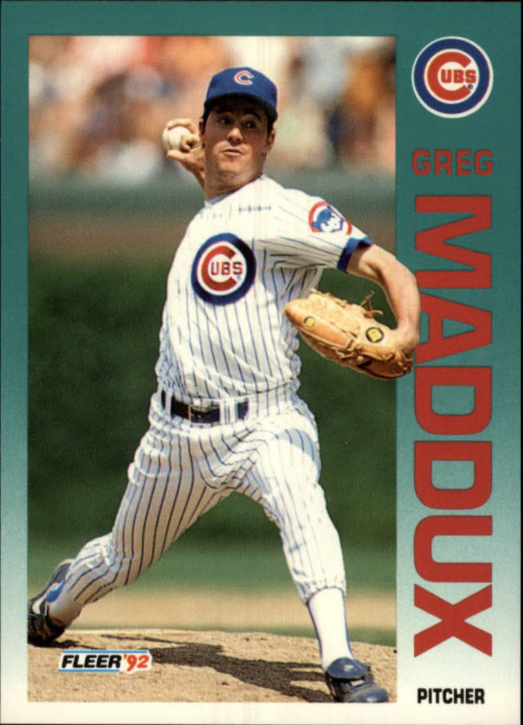 1992 Fleer #386 Greg Maddux