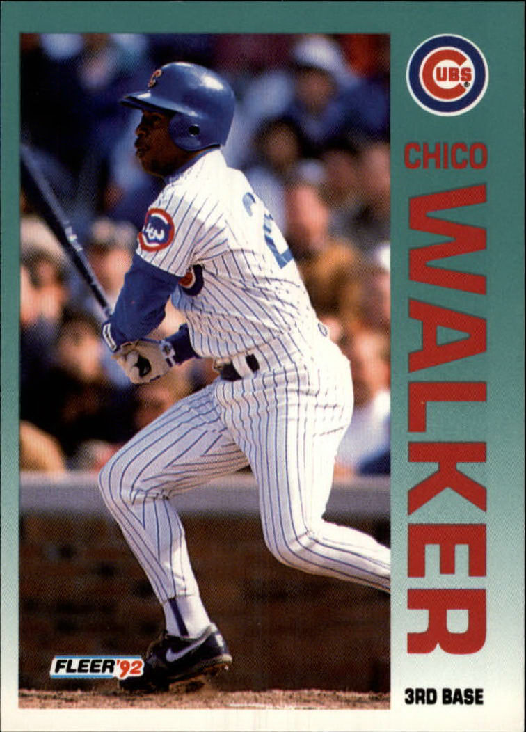 1992 Fleer #395 Chico Walker