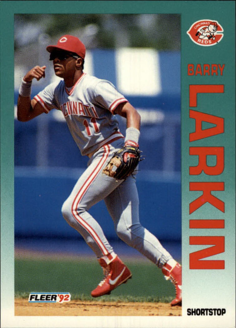 1992 Fleer #411 Barry Larkin