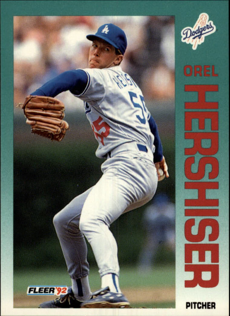 1992 Fleer #459 Orel Hershiser
