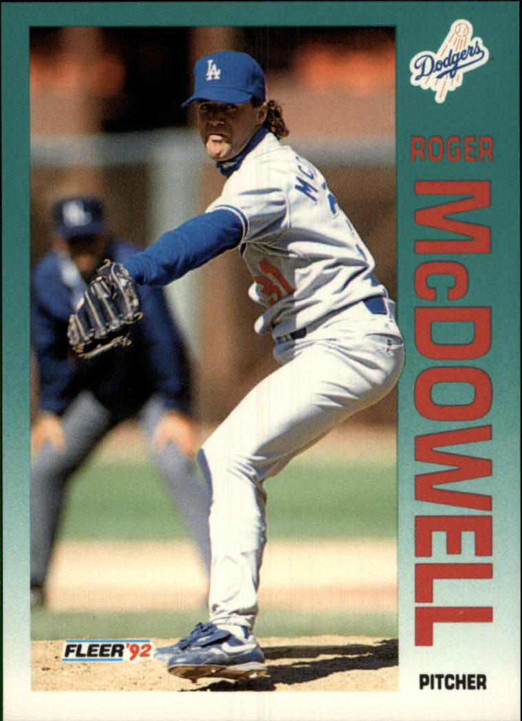 1992 Fleer #464 Roger McDowell UER/(Wins add up to 54&/totals ha