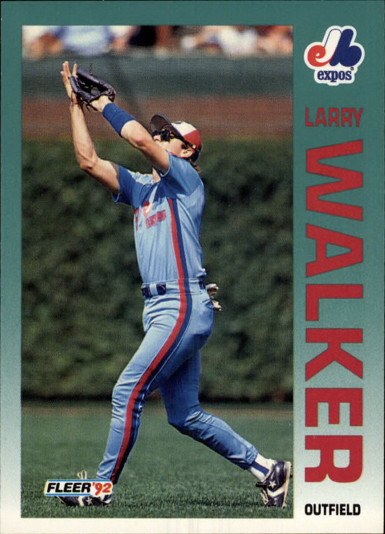 1992 Fleer #493 Larry Walker