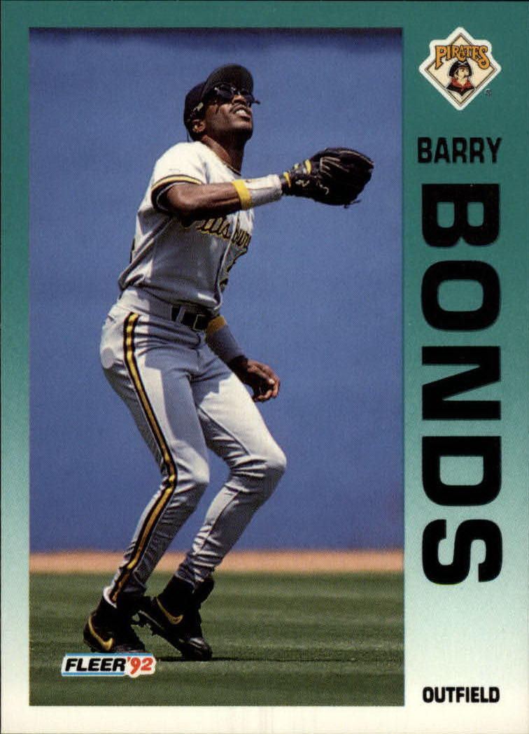 1992 Fleer #550 Barry Bonds