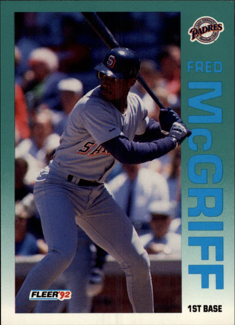 1992 Fleer #614 Fred McGriff front image