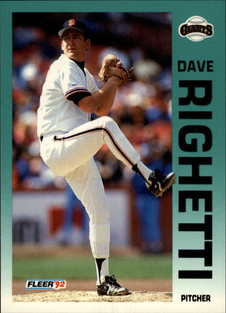 1992 Fleer #647 Dave Righetti
