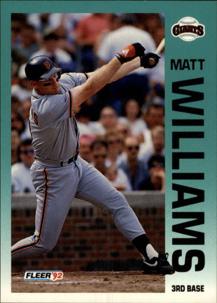 1992 Fleer #650 Matt Williams