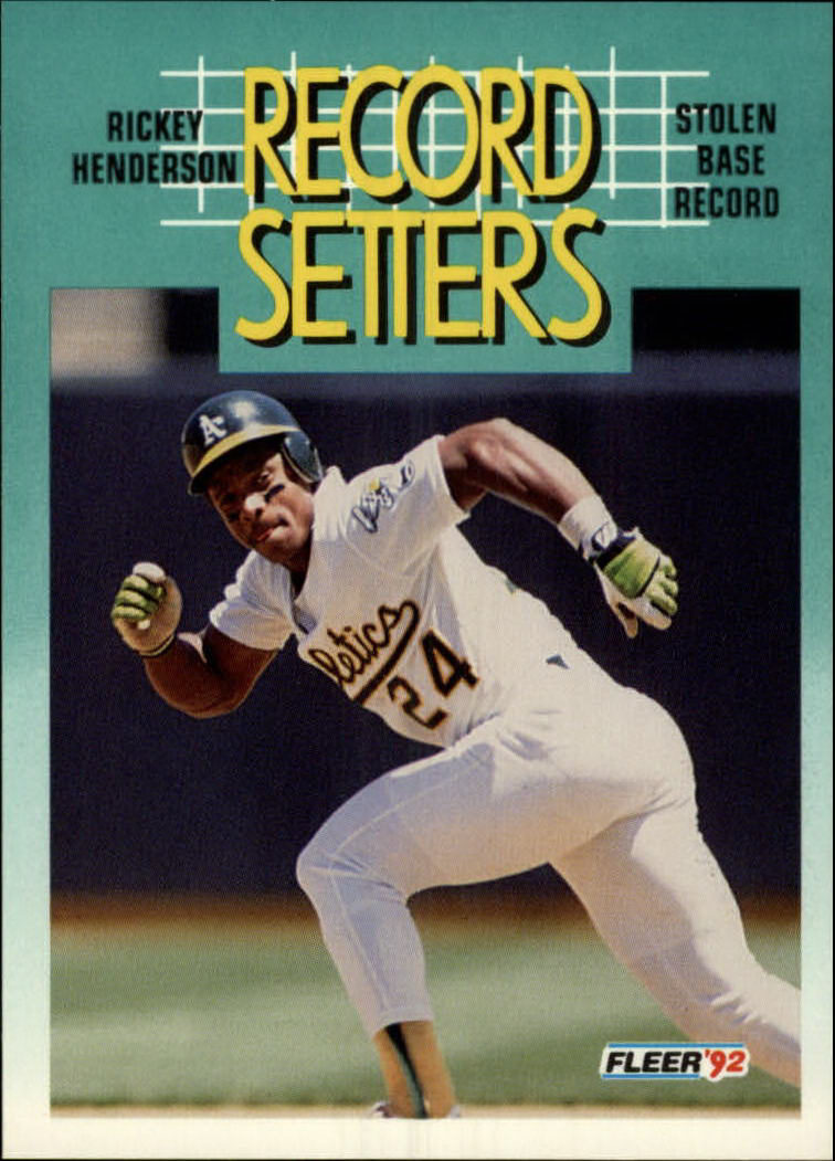 1992 Fleer #681 Rickey Henderson RS