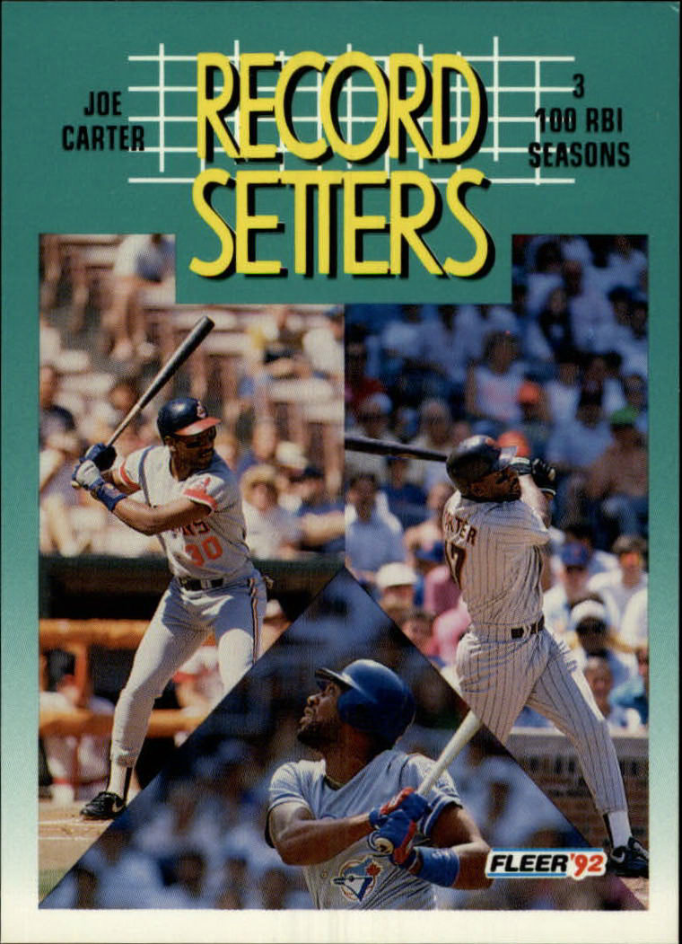 1992 Fleer #685 Joe Carter RS