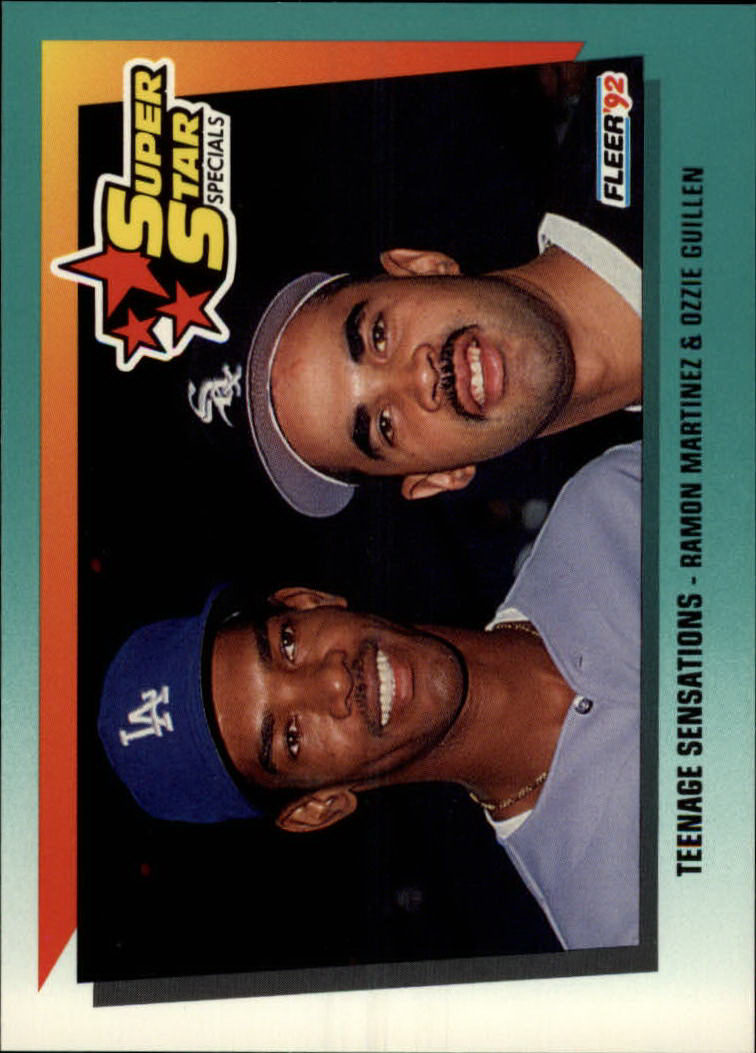 1992 Fleer #706 R.Martinez/O.Guillen