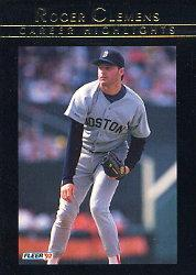 1992 Fleer Clemens #7 Roger Clemens/Play It Again Roger