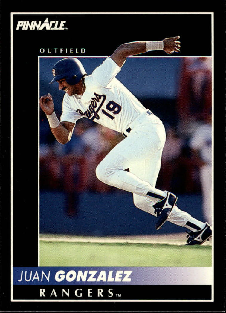 1992 Pinnacle #127 Juan Gonzalez