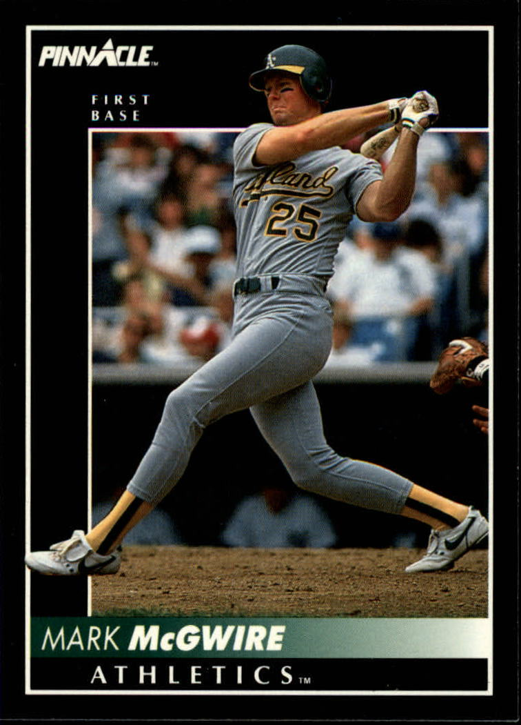 1992 Pinnacle #217 Mark McGwire