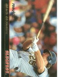 1992 Pinnacle Slugfest #2 Mark McGwire