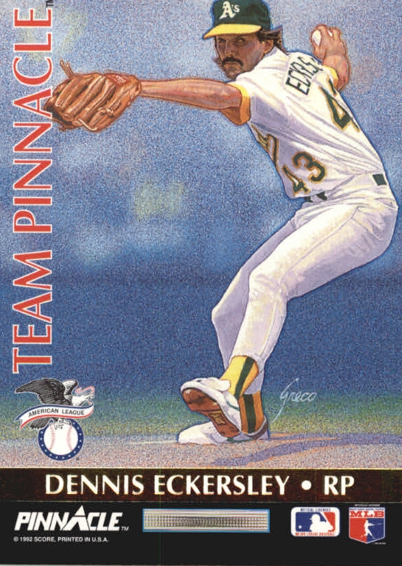 1992 Pinnacle Team Pinnacle #11 D.Eckersley/R.Dibble