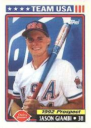 1992 Topps Dairy Queen Team USA #31 Jason Giambi