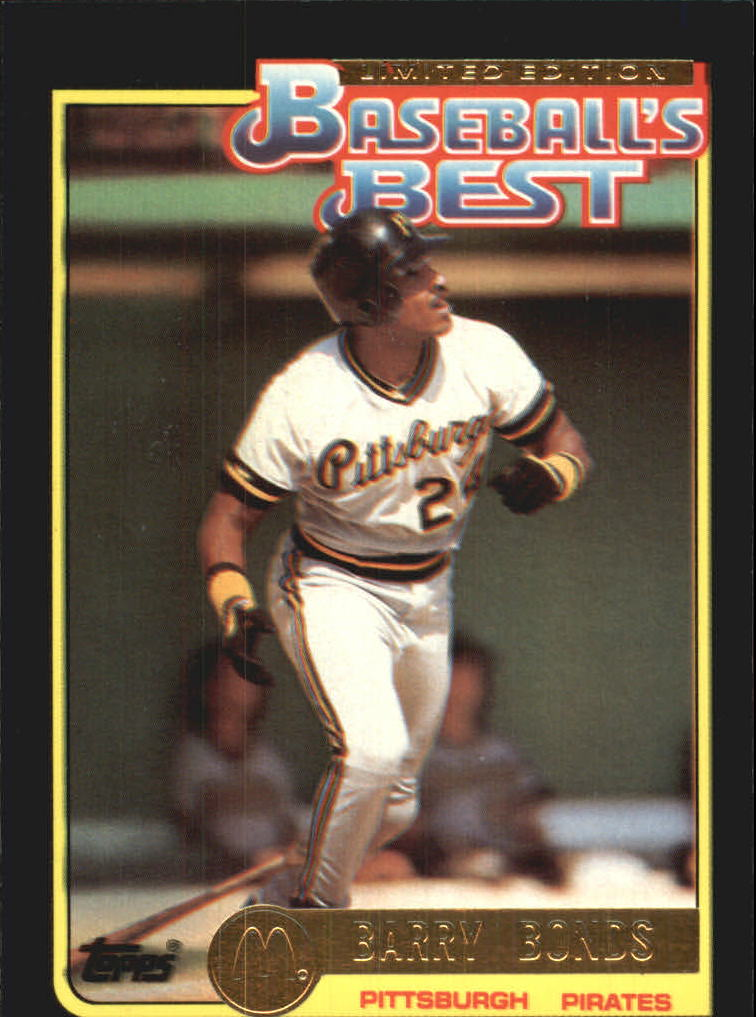 1992 Topps McDonald's #12 Barry Bonds