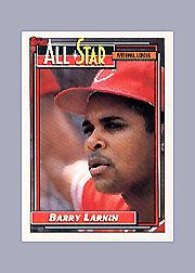 1992 Topps Micro #389 Barry Larkin AS