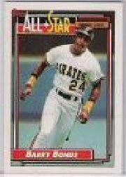 1992 Topps Micro #390 Barry Bonds AS